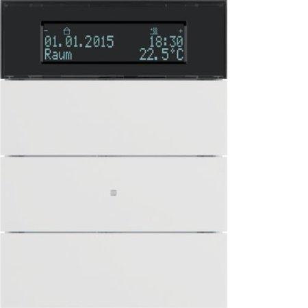 Tastsensor 3fach mit Temperaturregler und Display B.IQ polarweiß matt Hager 75663599
