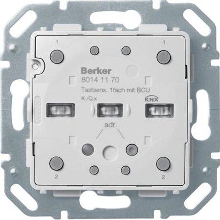 Tastsensor-Modul 1fach mit integriertem Busankoppler KNX Q.x/K.x Hager 80141170