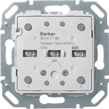 Tastsensor-Modul 1fach mit integriertem Busankoppler KNX S.1/B.x Hager 80141180