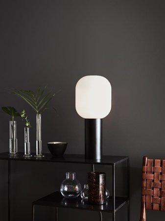 Tischlampe schwarz weiß BROOKLYN 60W E27 Markslojd 107480