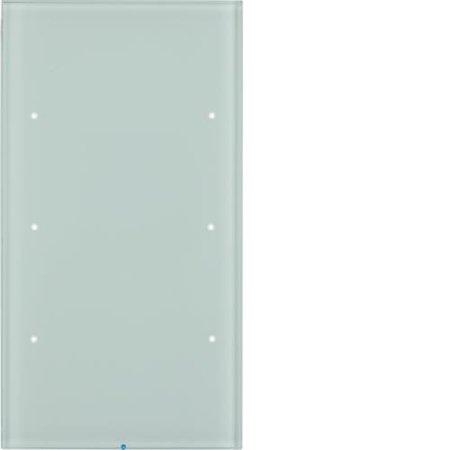 Touch-Sensor 3fach Komfort R.3 Glas polarweiß Hager 75143850