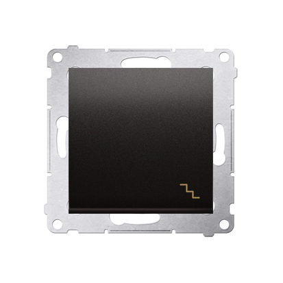 Treppenschalter (Modul) mit Aufdruck und Anthrazit matt Kontakt Simon 54 Premium DW6A.01/48