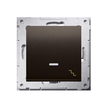Treppenschalter (Modul) mit Aufdruck und Beleuchtung Braun Kontakt Simon 54 Premium DW6L.01/46