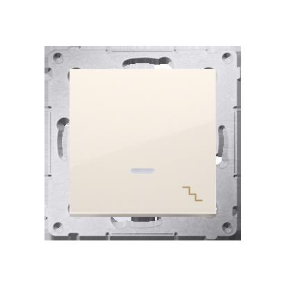 Treppenschalter (Modul) mit Aufdruck und Beleuchtung cremeweiß Kontakt Simon 54 Premium DW6L.01/41