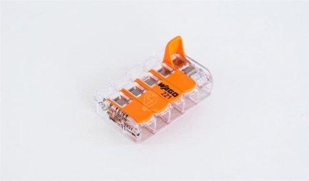 Wago Verbindungsklemme mit Betätigungshebel 5Leiter 5x0,2-4mm 221-415