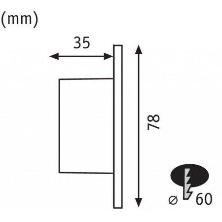 Wand/Treppen Einbauleuchte okrągła 1,7W 2700K 230V - Weiß Paulmann PL92924