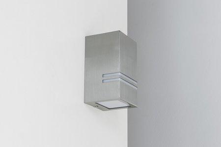 Wandaußenleuchte Hermetisch Gartenlampe FLEVO INOX IP54 GU10 silber EDO777153 EDO
