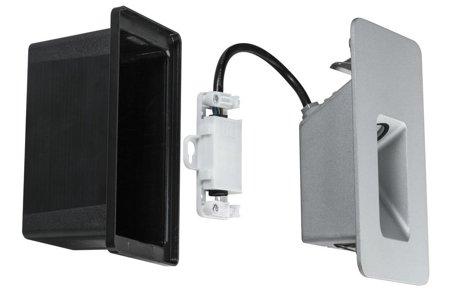 Wandeinbauleuchte Slot LED 2,4W 2700K IP44 Aluminium matt