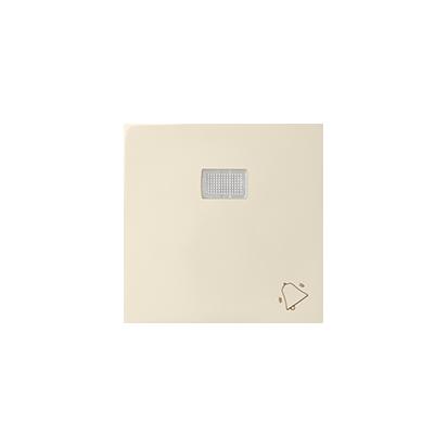 """Wippe 1fach Aufdruck """"Klingel"""" für Schalter/ Taster mit LED beige matt Kontakt Simon 82 82015-31"""
