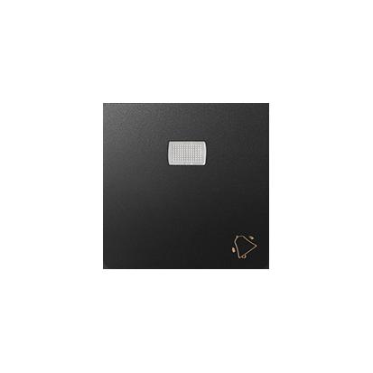 """Wippe 1fach Aufdruck """"Klingel"""" für Schalter/ Taster mit LED graphit matt Kontakt Simon 82 82015-38"""