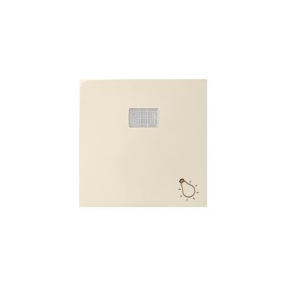 """Wippe 1fach Aufdruck """"Licht"""" für Schalter/ Taster mit LED beige matt Kontakt Simon 82 82016-30"""