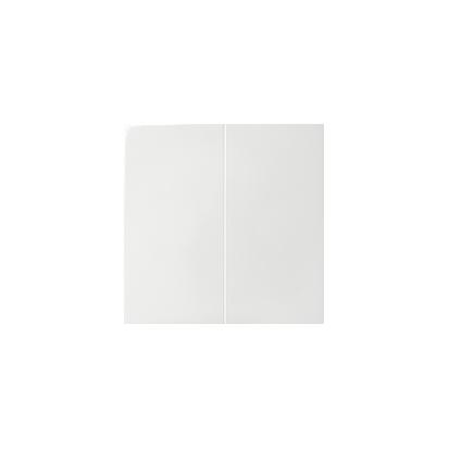 Wippe für Serien- und Doppel-Schalter 2fach weiß glänzend Kontakt Simon 82  82026-30