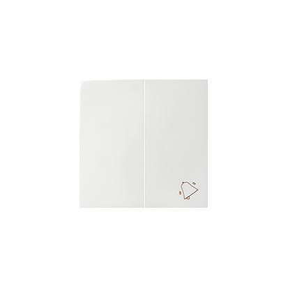 Wippen 2fach mit Symbol Klingel weiß glänzend Kontakt Simon 82 82027-30