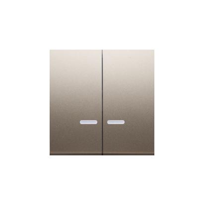 Wippen für Schalter/Taster 2fach mit roter Linse gold matt Simon 54 Premium Kontakt Simon DKW5L/44